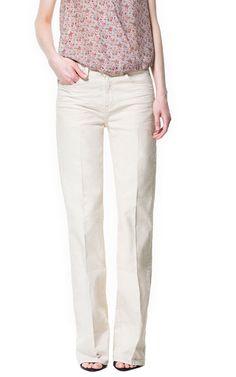 WIDE - LEG TROUSERS - Trousers - Woman | ZARA Greece