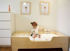 kids plywood bed frame - Google Search