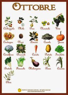 Frutta e verdura di ottobre  #yoga #benessere #salute #bricioledisapori #sport #fitness #ottobre #SpineYoga