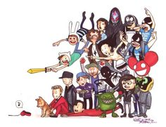 Too much love for Feed Me, Daft Punk, Steve Aoki, The Glitch Mob… Dance 4, Dance Music, Adventure Time Costume, The Glitch Mob, Play That Funky Music, Raver Girl, Edm Music, Steve Aoki, King Of Music