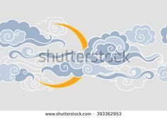 Stock Images similar to ID 67378762 - vector seamless oriental waves...