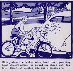 bicycle safety 1940's
