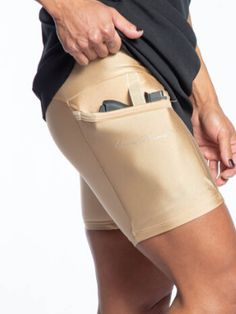 Nude Outer Thigh Holster Shorts Concealed Carry Clothing, Concealed Carry Women, Concealed Carry Holsters, Iwb Holster, Handgun For Women, Summer Sundresses, Outer Thighs, Tactical Clothing, Carry On