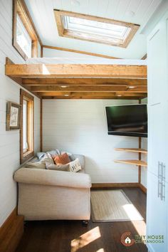 The Lookout v3: the third edition of Tiny House Chattanooga's award-winning tiny house model. This two-bedroom home even has a beer tap!