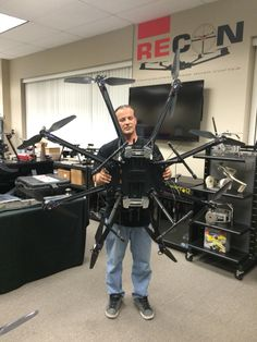 """22"""" arm and prop Recon Octo OctoCopter multirotor gimbal fpv Real platform cinematography cinema video production filming. Professionals choice"""