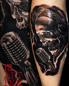 #tattoo #skulltattoo #musictattoo #ink #inkedup #inkjunkeyz #microphone #bnginksociety #blackandgreytattoo #shading #tattoodo #tattoorealistic #realistictattoos #tattooed_body_art #exclusivetattoos #amazingtattoos #toptattooartist #inksav #tattoo_worldwide_online #tattedskin #myworldofink #thebesttattooartists #inklife #tattoo_art_worldwide #skinartmag #tattoosalday #tattoosofinstagram #inkig #ink_ig @tattoo.artists #tattooed_body_art #the_inkmasters