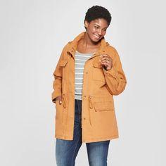 b3f7b1ab138 Women s Plus Size Utility Anorak Jacket - Ava   Viv Copper (Brown) 1X