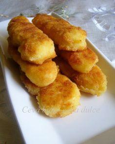 Reteta culinara Crochete de cartofi din categoria Aperitive. Cum sa faci Crochete de cartofi