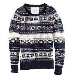 Gray Fair Isle Sweater     H