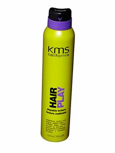 touchable volume  with a few mists of texturizer on dry hair .  KMS California Hairplay