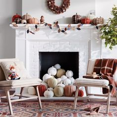 8 Fall-Inspired Fireplaces Sure to Light Your Decorating Fire