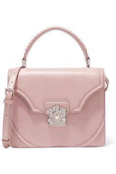 Alexander McQueen | Flower embellished leather shoulder bag | NET-A-PORTER.COM