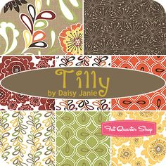 Tilly Fat Quarter Bundle Daisy Janie Organic Fabrics - Fat Quarter Shop