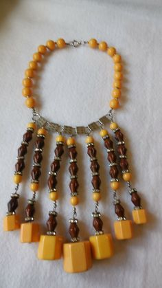 Bakelite and Celluloid Necklace