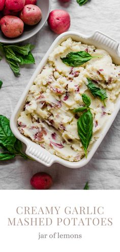 Delicious, easy-to-make Creamy Garlic Mashed Red Potatoes that are perfect for the holidays! This yummy recipe is sure to be a hit with your guests. With just a few simple ingredients, these red mashed potatoes can be made and on the table in no time at all!