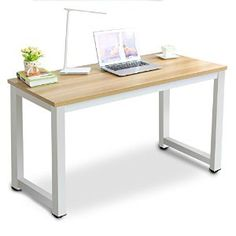 Tribesigns Modern Simple Style Computer PC Laptop Desk Study Table Workstation for Home Office (Light Walnut )
