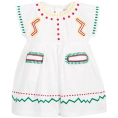 7ab21421d NWT Stella Mccartney Kids Baby Girl White Embroidered