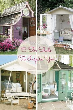 15 Ultimate She Sheds To Inspire You http://www.surfandsunshine.com/ultimate-she-sheds/?utm_campaign=coschedule&utm_source=pinterest&utm_medium=Surf%20and%20Sunshine&utm_content=15%20Ultimate%20She%20Sheds%20To%20Inspire%20You