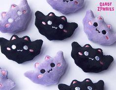 Kawaii bat hair clips - Candy Zombies