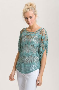 Collective Concepts Crochet Dolman Sleeve Sweater $78.00