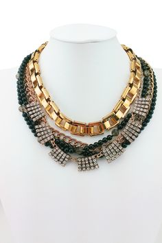 Black & Gold Layered Necklace on HauteLook