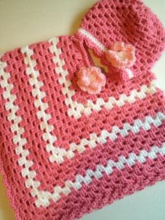 Handmade crochet kids poncho Easter sweater spring by nessjude16, $38.00