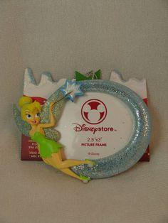 "Tinker Bell Photo Frame 3"" Resin Christmas Ornament Disney Store Peter Pan #DisneyStore"
