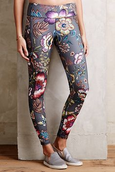 Pure + Good Florataupe Leggings - anthropologie.com