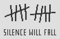 Doctor Who Silence Will Fall Cross Stitch ( Printable PDF ) Pattern - Immediate Download from Etsy - Tardis Time Space Aliens. $2.00, via Etsy.