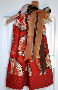 Fall 2010 Pillowcase DressWine and Brown with Double Bow OUT OF STOCK