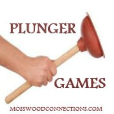 Plunger Games My son's school wanted me to come up with some games for their Fun Friday Field Day. We decided on an updated obstacle course. While I was shopping for supplies at the dollar store I spied plungers on sale for one dollar and my mind started racing with the possibilities. My son still enjoys bathroom humor and I knew that playing with plungers would be a hit with the first grade crowd. That is how Plunger Games! was created.