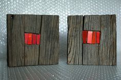 c l a p m o s a i c o: red Wood Mosaic, Stone Mosaic, Mosaic Art, Mosaic Glass, Stained Glass, Sculptures Céramiques, Wood Sculpture, Sculpture Ideas, Wooden Wall Art