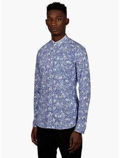 Kenzo Men's Blue Print Shirt | oki-ni