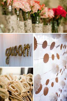 Vintage Glamour DIY Wedding - Utterly Engaged