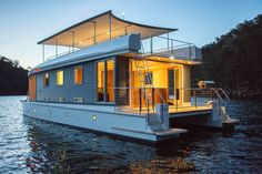 world's first solar-powered houseboat