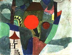 With the Setting Sun. 1919. Obra de Paul Klee