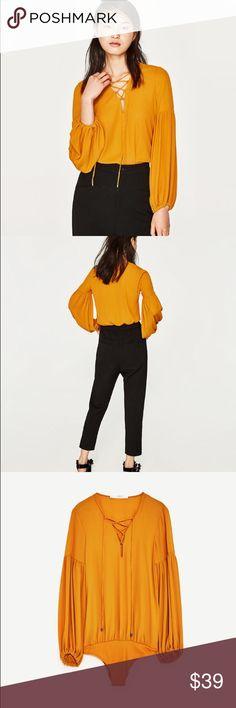 618c5eaaf3 Zara marigold bodysuit with cords