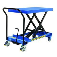 Our SC-300-S-E Electric Single Mobile Scissor Lift Table is an easily manoeuvrable platform on wheels to lift and lower loads up to 300kg.