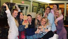 What a cute sisterhood event idea! Have breakfast for dinner and wear pajamas. It's simple yet a great way to hang out with your sisters in a casual way. #ZTA #ZLAM