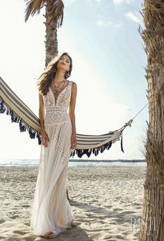 "rish bridal sun dance 2018 sleeveless deep sweetheart neckline heavily embellished bodice bohemian soft a line wedding dress open v back sweep train (layla) mv -- Rish Bridal 2018 ""Sun Dance"" Collection 
