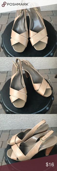 6c9ea111373c Franco Sarto Womens Buckel Heel Sandals    Beautiful   Franco Sarto Womens  Buckel Heel Sandals Size 8 Great used condition   little details please see  the ...