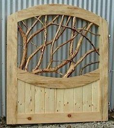 Custom Handmade Branch Panel Gate