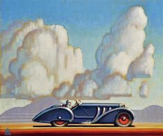 "Daily Paintworks - ""Motoring"" by Robert LaDuke"