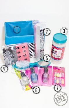 Last minute gift idea for under $ 15 Mani-Pedi Gift Basket