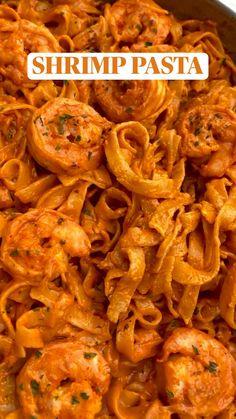 Pasta Dinner Recipes, Dinner Recipes Easy Quick, Shrimp Recipes, Chicken Recipes, Diner Recipes, Clean Recipes, Cooking Recipes, Healthy Recipes, Food Cravings