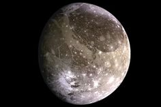 Ganimedes fotografada pela sonda Galileu Fotografia © Wikimedia Commons