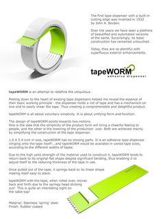"""Tapewor, an Adhesive Tape Dispenser by Paul Sandip » Yanko Design"