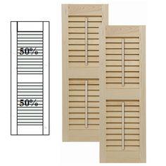 ReliaBilt Louvered Solid Core Non Bored Interior Slab Door Common