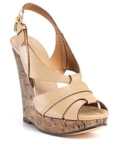 Chloe cork wedges with slingback.  Pic says it all.