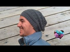 Bonnet homme torsades tricot / Beanie for man easy knit - YouTube